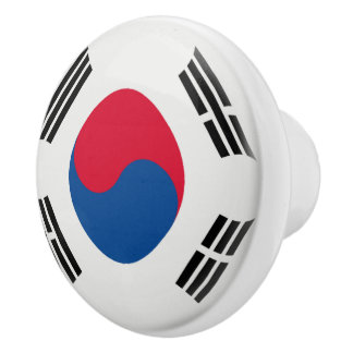 South Korea South Korean Flag Ceramic Knob