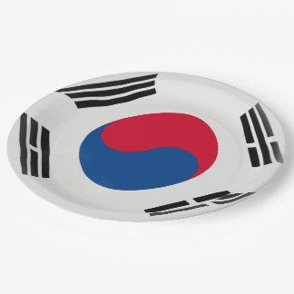 South Korea South Korean Flag Paper Plate