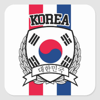 South Korea Square Sticker