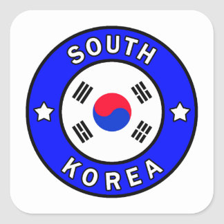 South Korea Square Sticker