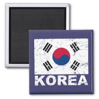 South Korea Vintage Flag Magnet