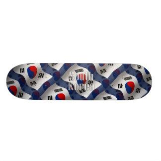 South Korea Waving Flag Custom Skateboard