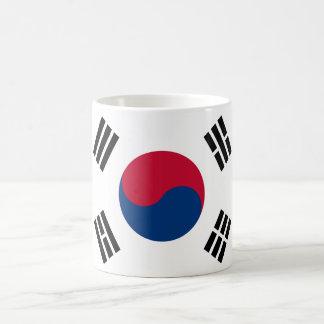 South Korea World Flag Basic White Mug