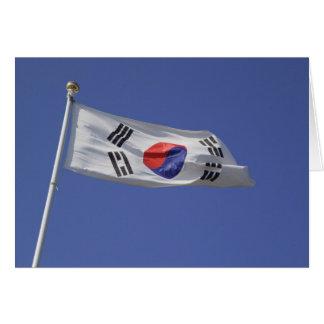 South Korean Flag Card