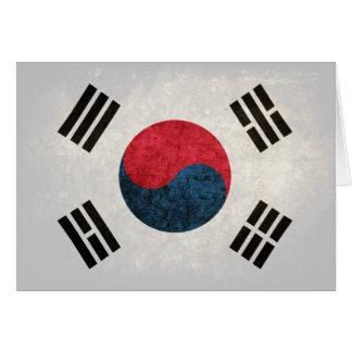South Korean Flag Note Card