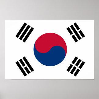 "South Korean Flag Poster - 16.50"" x 11"""