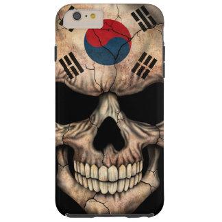 South Korean Flag Skull on Black Tough iPhone 6 Plus Case