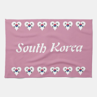 South Korean heart Tea Towel