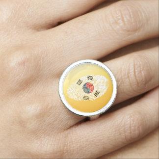South Korean touch fingerprint flag
