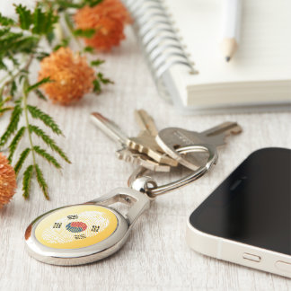 South Korean touch fingerprint flag Key Ring