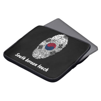 South Korean touch fingerprint flag Laptop Sleeve