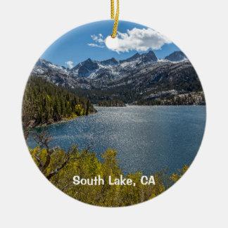 South Lake, California Ceramic Ornament