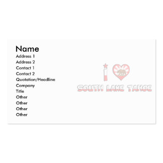 South Lake Tahoe, CA Business Card