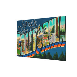 South Lake Tahoe California Stretched Canvas Print