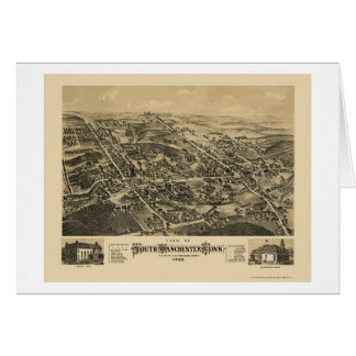South Manchester, CT Panoramic Map - 1880 Card