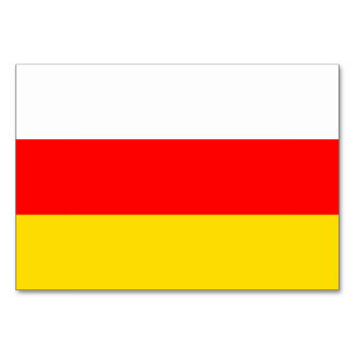 South Ossetia Flag Card