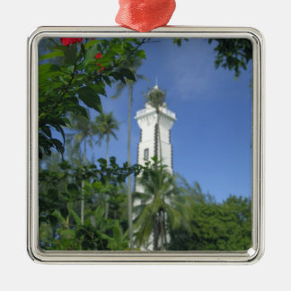 South Pacific, French Polynesia,Tahiti. Hibiscus 2 Metal Ornament