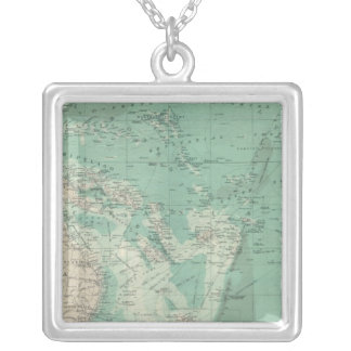 South Pacific Ocean Silver Plated Necklace