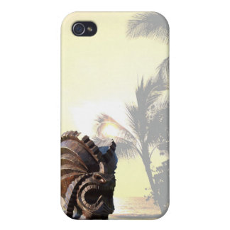 South Pacific Palm Trees Tiki iPhone 4 Cover