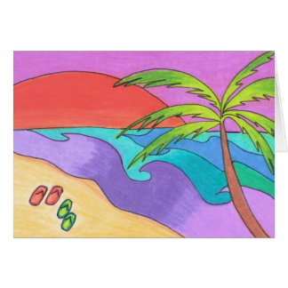 South Pacific Sunset Card