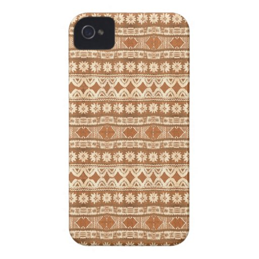 South Pacific Tribal Wood Pattern Blackberry Bold Blackberry Case