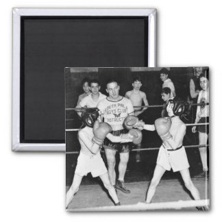 South Philly Boys Club Boxing, 1940s Square Magnet
