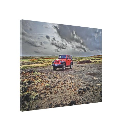 South Point Hawaii jeep adventure canvas art Stretched Canvas Prints