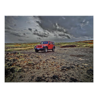 South Point Hawaii jeep adventure offroad poster