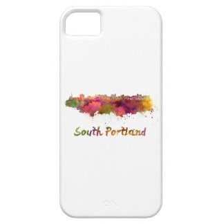South Portland skyline in watercolor iPhone 5 Cover