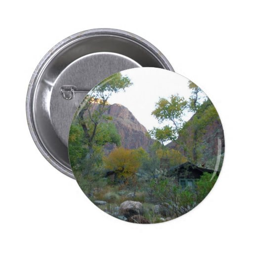 South Rim Grand Canyon National Park Phantom Ranch Pinback Button