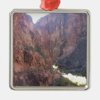 South Rim Grand Canyon National Park Phantom Ranch Silver-Colored Square Decoration