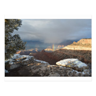 South Rim Grand Canyon Overlook Rainbow Postcard