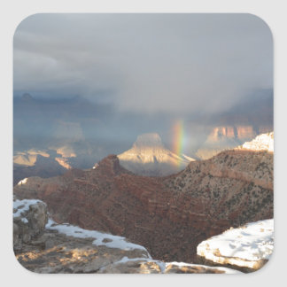 South Rim Grand Canyon Overlook Rainbow Square Sticker