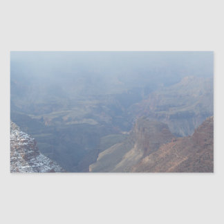 South Rim Grand Canyon Overlook Rectangular Sticker