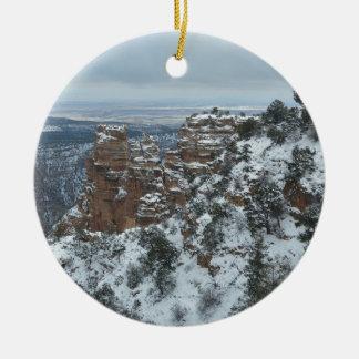 South Rim Grand Canyon Overlook Round Ceramic Decoration