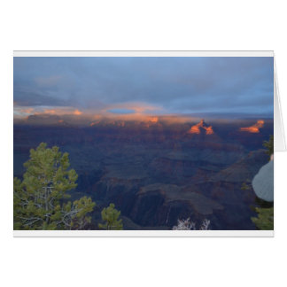 South Rim Grand Canyon Overlook Sunset Greeting Card