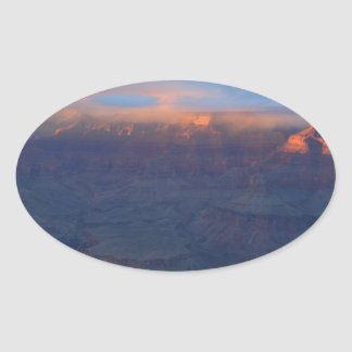 South Rim Grand Canyon Overlook Sunset Oval Sticker