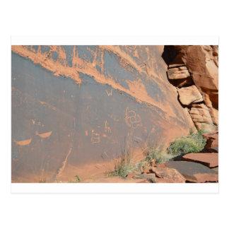 South Rim Grand Canyon Petroglyph Postcard