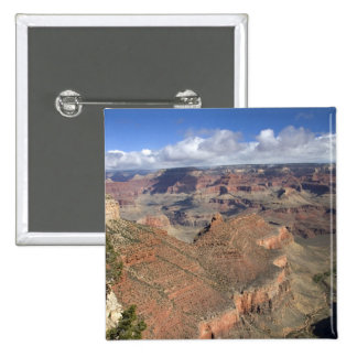 South Rim view of the Grand Canyon, Arizona, 15 Cm Square Badge