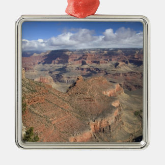 South Rim view of the Grand Canyon, Arizona, Silver-Colored Square Decoration