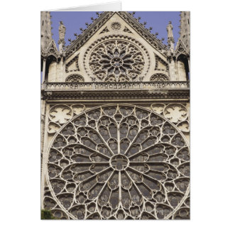 South Rose Window in Notre Dame Cathedral in Card
