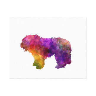 South Russian Shepherd Dog in watercolor Canvas Print