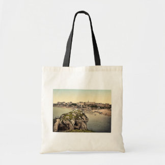 South sands, Tenby, Wales rare Photochrom Tote Bag
