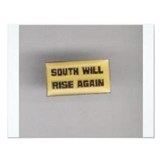 SOUTH SHALL RISE AGAIN 11 CM X 14 CM INVITATION CARD