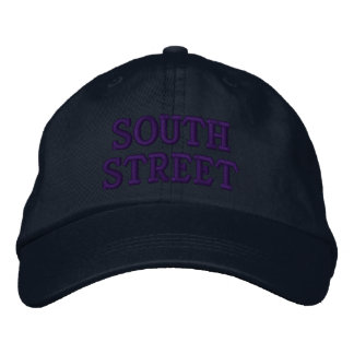 SOUTH STREET EMBROIDERED BASEBALL CAP