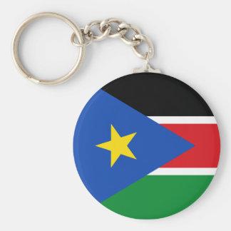 south sudan basic round button key ring