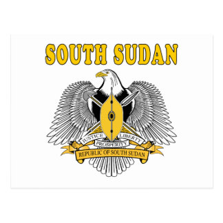 South Sudan Coat Of Arms Designs Postcard