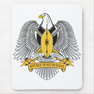 South Sudan Coat of Arms Mouse Pad