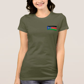 South Sudan Flag and Map dk T-Shirt