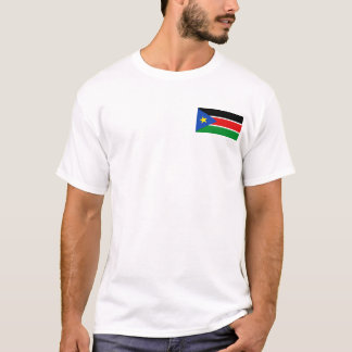 South Sudan Flag and Map T-Shirt